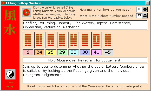 I Ching Lottery Numbers
